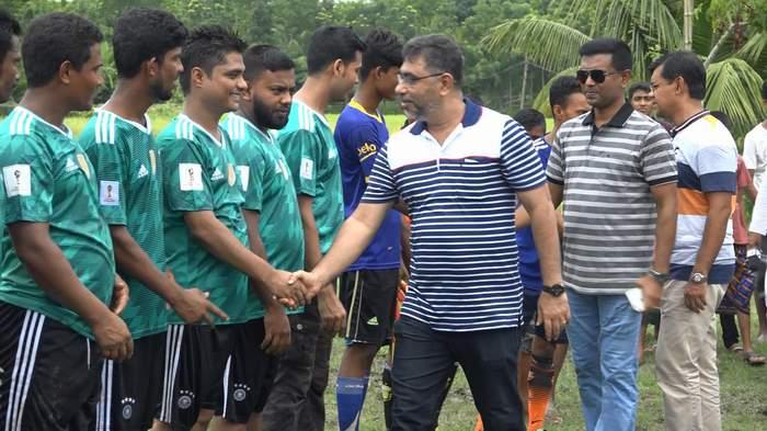রাধাপুরে ব্যতিক্রম ফুটবল লীগ