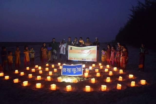 বরগুনায় এক হাজার এক মোমবাতি জ্বালিয়ে ২য় উপকূল দিবস পালনের সূচনা